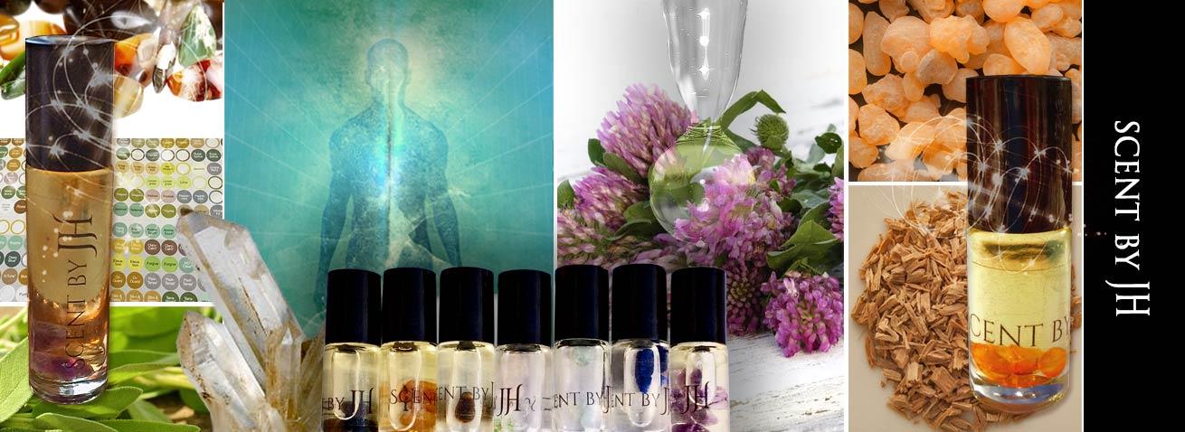 Healing Scents med krystaller og olier