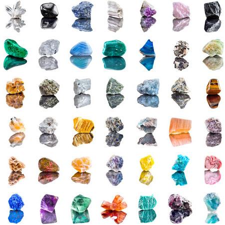 Forskellige krystaller og sten