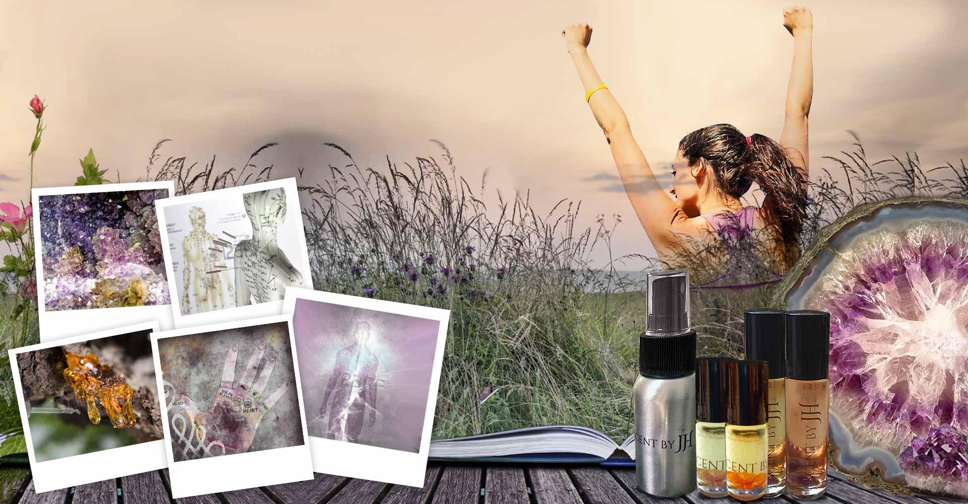 Krystaller og Æteriske Olier healing og energi